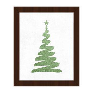 'Christmas Twirl Green' Framed Graphic Art