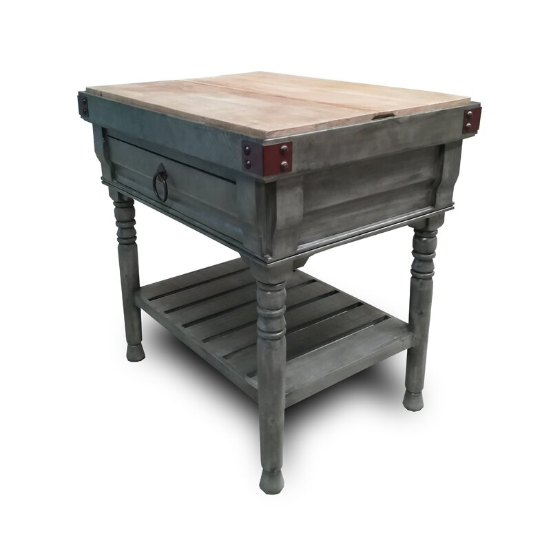 Brunton Kitchen Island With Butcher Block : August Grove Brunton Kitchen Island with Butcher Block Top Wayfair