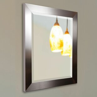 Wade Logan Rectangle Silver Petite Wall Mirror