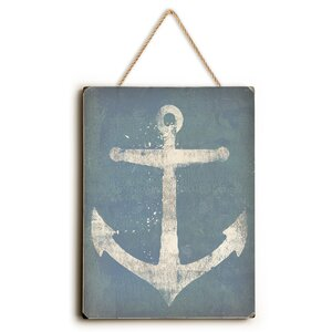 Anchor Painting Print by Breakwater Bay