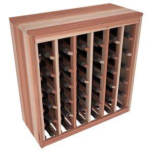 Karnes Redwood Deluxe 36 Bottle Floor Wine Rack by Red Barrel Studio