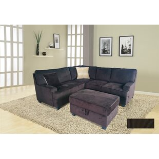 Faust Sectional with Ottoman Winston Porter