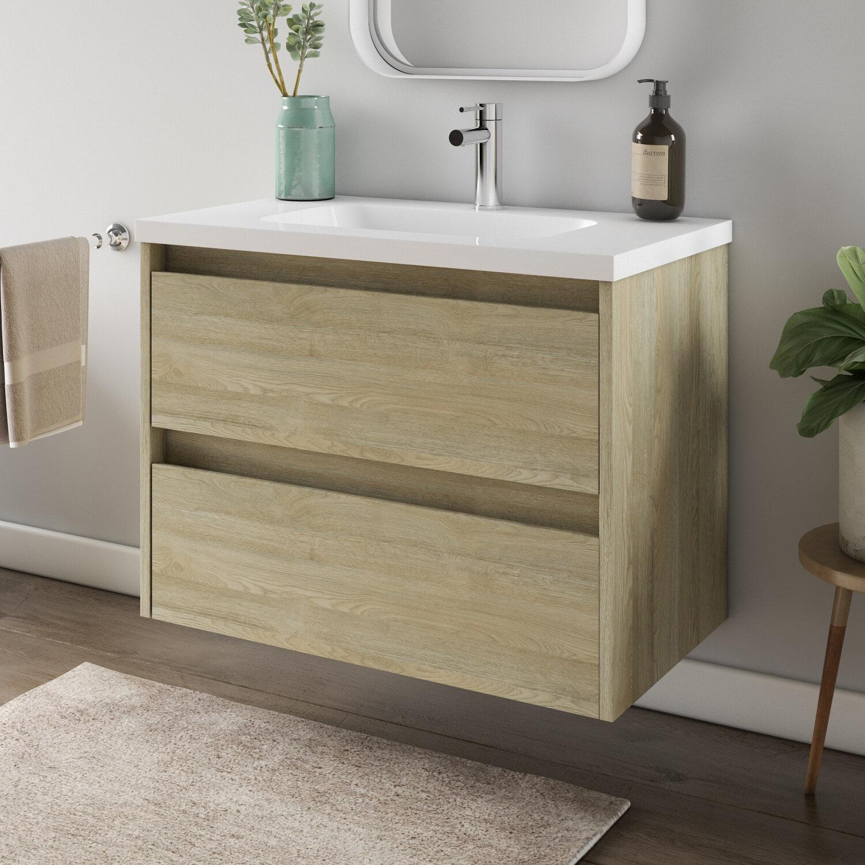 Ebern Designs Glain Modern 32 Wall Mounted Single Bathroom Vanity Set Wayfair