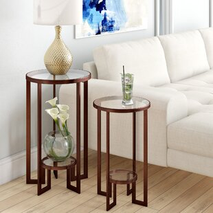 Reviews Sherilyn 2 Piece Nesting Tables By Everly Quinn