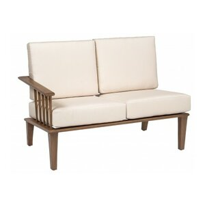 Van Dyke Left Arm Facing Loveseat Sectional Piece with Cushions Woodard