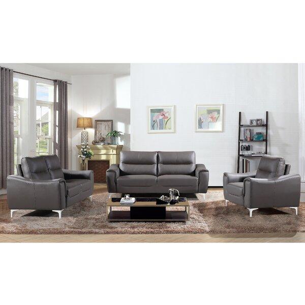 Orren Ellis Malissa 3 Piece Living Room Set U0026 Reviews   Wayfair