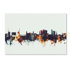 'Fayetteville Arkansas Skyline V' Graphic Art Print on Canvas by Trademark Fine Art