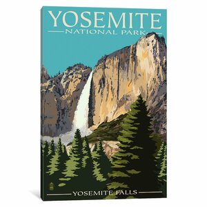 'U.S. National Park Service Series: Yosemite National Park (Yosemite Falls II)' Vintage Advertisement on Canvas by East Urban Home