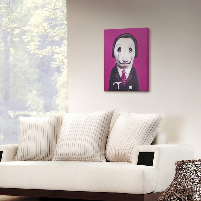 Pets rock surreal graphic art on wrapped canvas