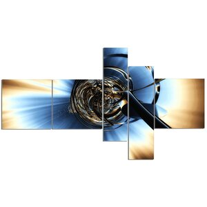 'Fractal 3D Tangled Knot' Graphic Art Print Multi-Piece Image on Canvas by East Urban Home