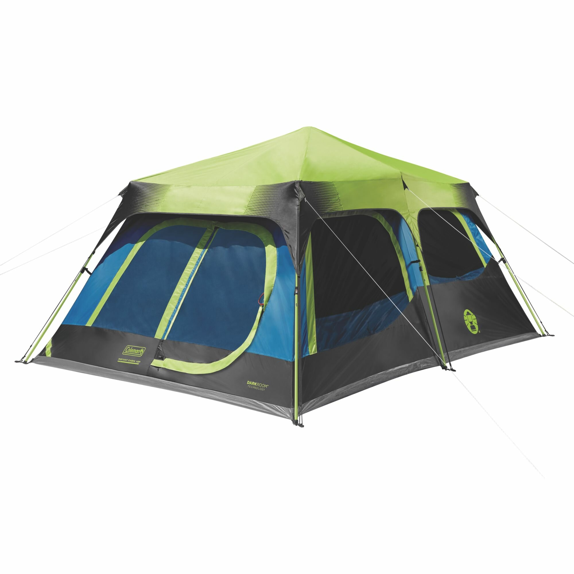 10-Person Family Camping Tent 3-Room Cabin With 2 Side Entrances Outdoor Hiking