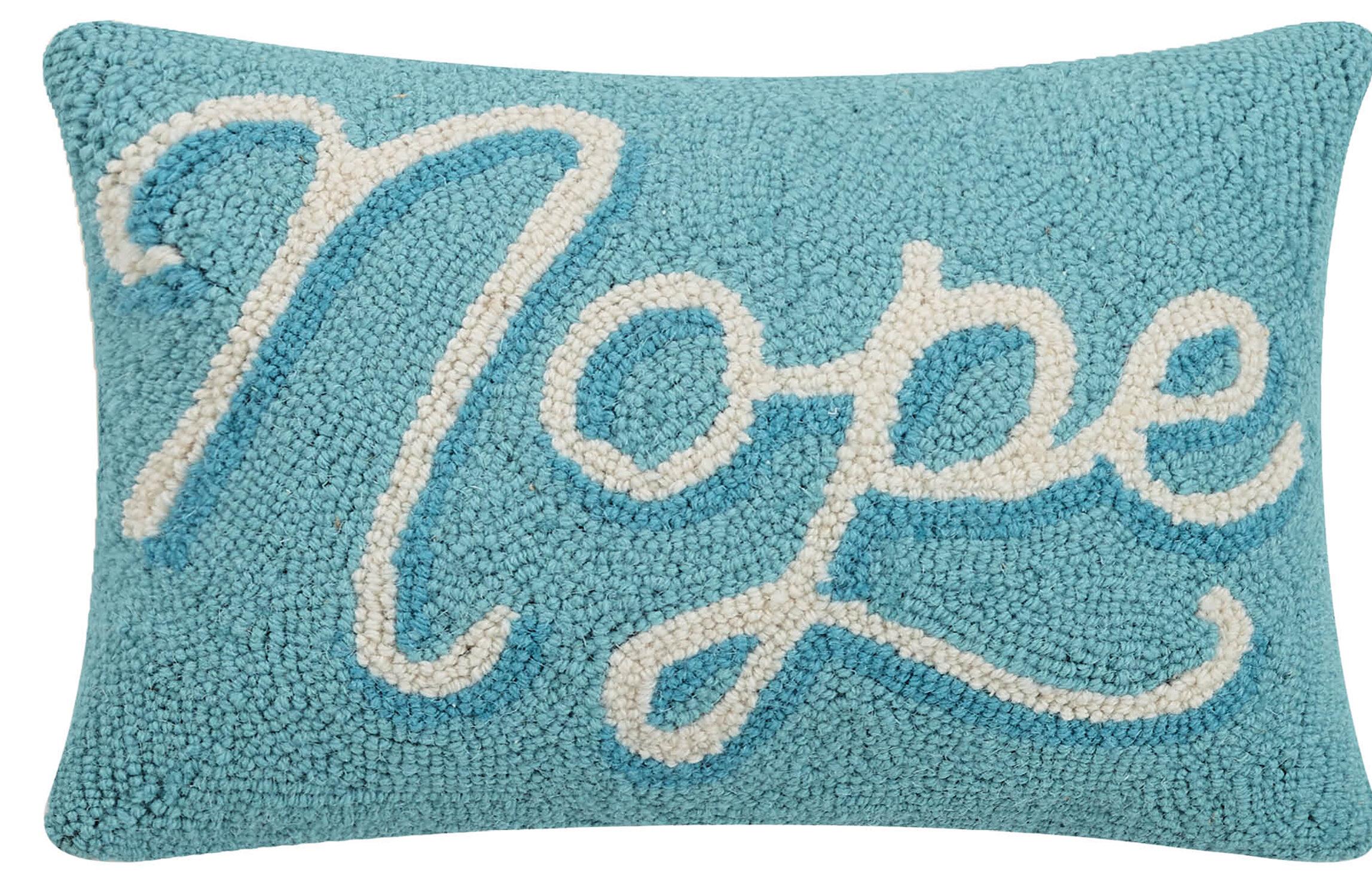 Peking Handicraft Texas Blue Bonnet Hook Pillow 8 by 24