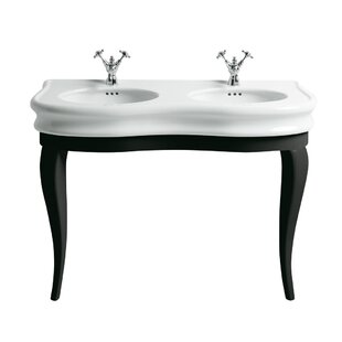 Best Price China Series Vitreous China 47 Console Bathroom Sink with Overflow ByWhitehaus Collection