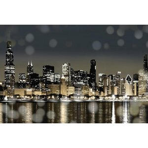 'Chicago Nights I' Photographic Print on Canvas by East Urban Home