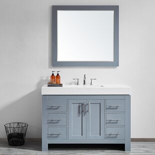 Affordable Neva 48 Single Bathroom Vanity Set with Mirror By Wrought Studio
