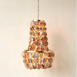 Sea shell chandelier wayfair naudain round oyster shell 1 light geometric chandelier aloadofball Choice Image