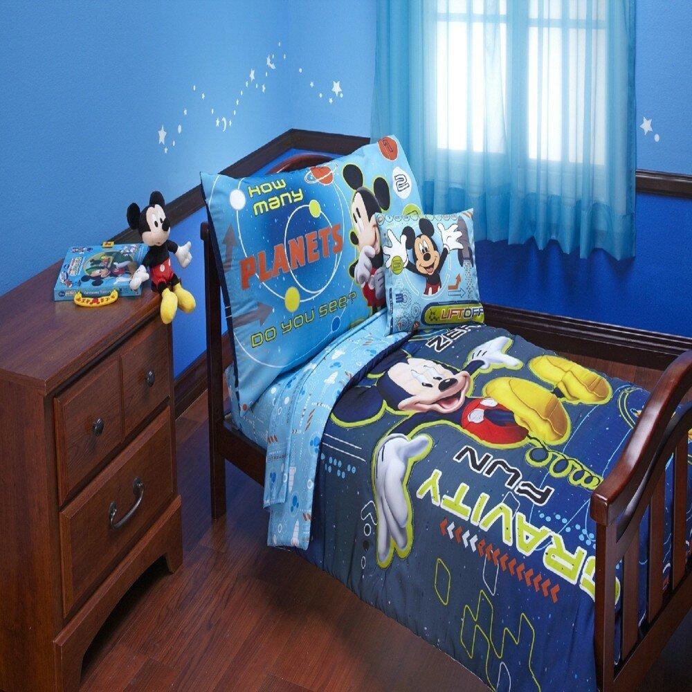 Disney Mickey Mouse Space Adventures 4 Piece Toddler Bedding Set
