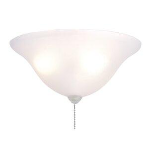 3-Light Bowl Ceiling Fan Light Kit