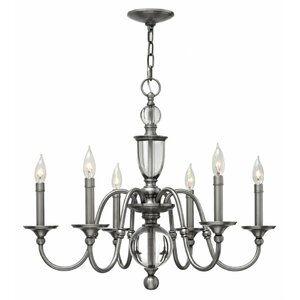 Eleanor 6-Light Candle-Style Chandelier