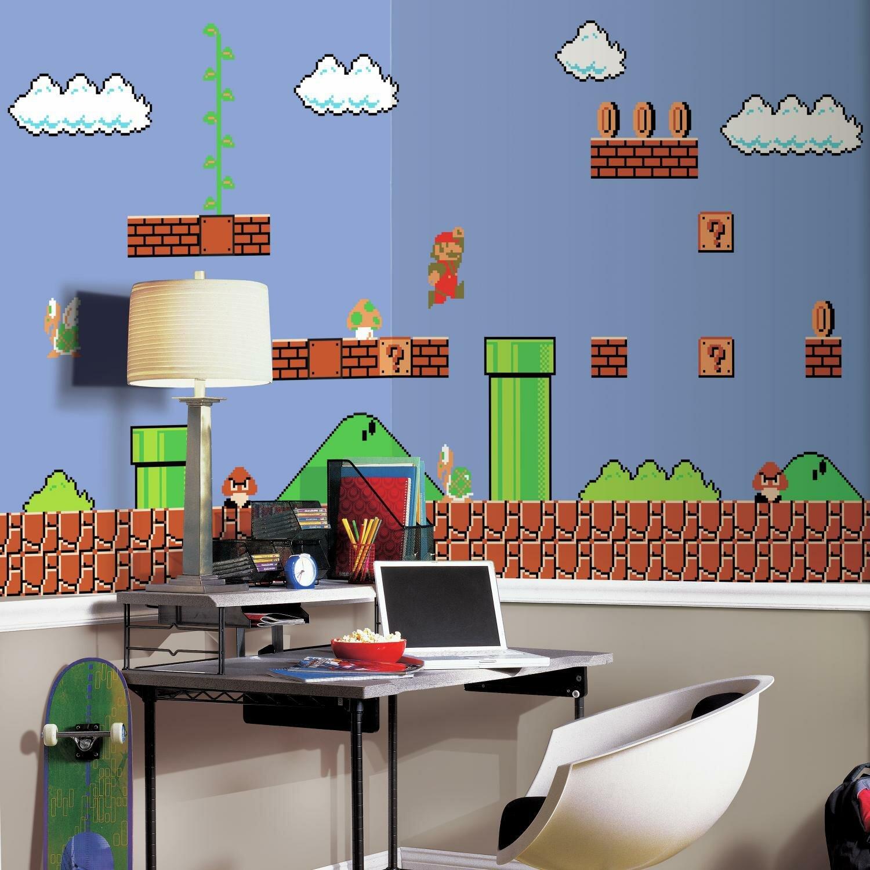 Room Mates Nintendo Retro Super Mario 105 X 72 Wall Mural Wayfair