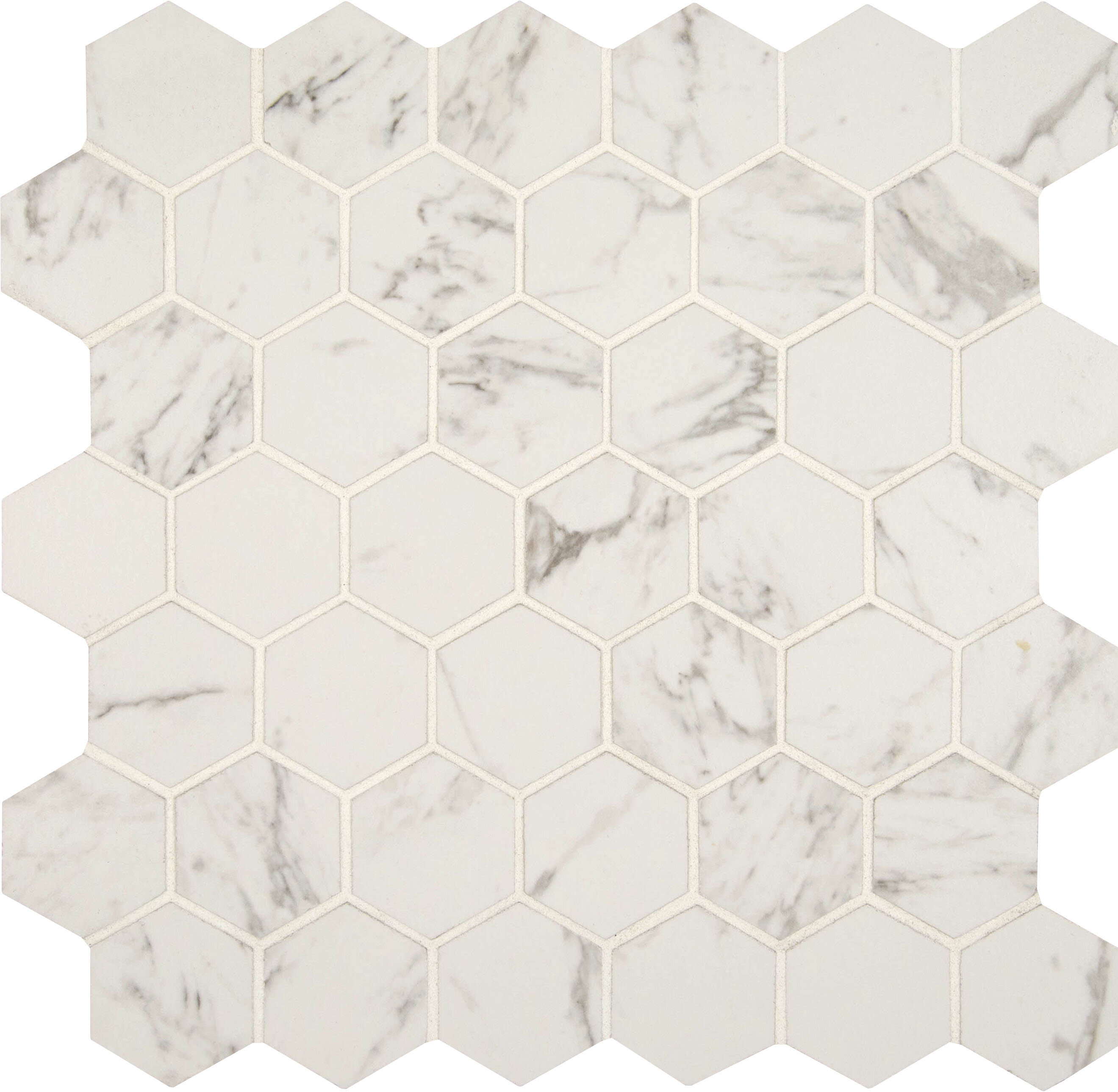 Msi Carrara 2 X Hexagon Porcelain Mosaic Tile In Matte Reviews Wayfair