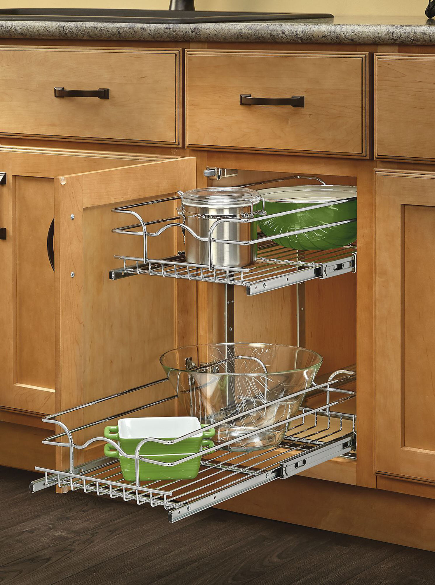 organizer cabinets organized rev by a tier two island hicks house cookware shelf