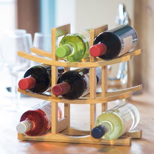 Weinregal für 6 Fl. Relaxdays   Küche und Esszimmer > Küchenregale   Relaxdays