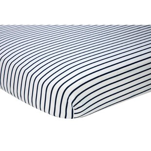 Check Prices Stripes Fitted Crib Sheet ByNautica