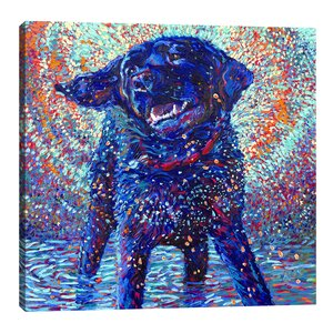 Canines & Color by Iris Scott Painting Print on Wrapped Canvas by Jaxson Rea