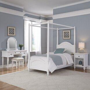 Harrison Canopy 4 Piece Bedroom Set ByBeachcrest Home
