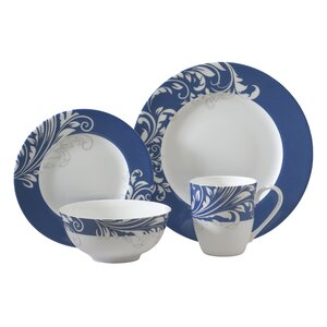 Bleu 16 Piece Dinnerware Set, Service for 4