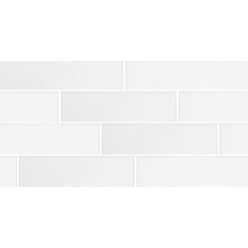 Secret Dimensions 3 X 12 Gl Subway Tile In Eternal White