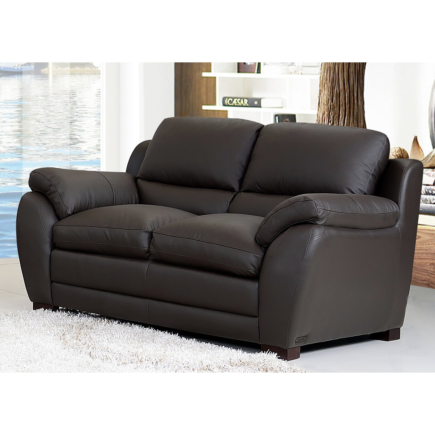 Wade Logan Grayson Leather Sofa And Loveseat Set