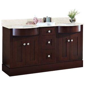 Kester 60 Rectangular Wood Double Bathroom Vanity Set Darby Home Co