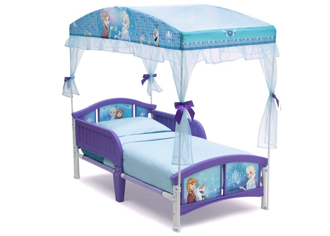 delta children disney frozen toddler bed & reviews | wayfair