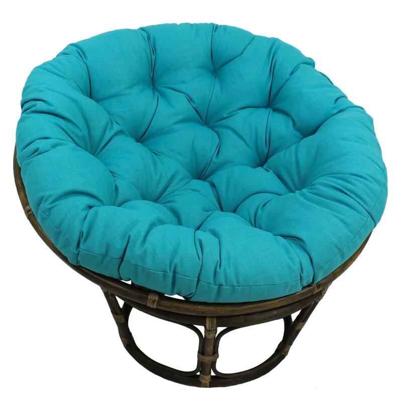 Papasan Chair Outdoor Cushion Bungalow Rose Benahid Outdoor Rattan Papasan Chair with ...
