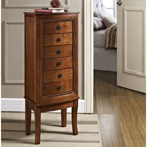Becky Free Standing Jewelry Armoire with Mirror by Astoria Grand