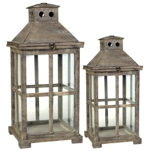 Compare & Buy Wooden 2 Piece Metal Lantern Set By August Grove