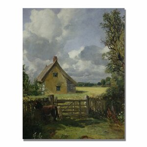 Cottage in a Cornfield by John Constable Painting Print on Canvas by Trademark Fine Art