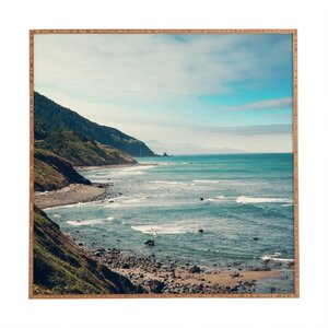 California Pacific Coast Highway Framed Photographic Print by Wrought Studio