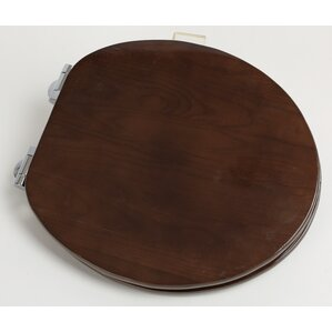 Contemporary Full Cover Solid Oak Wood Round Toilet Seat Burgundy  Wayfair