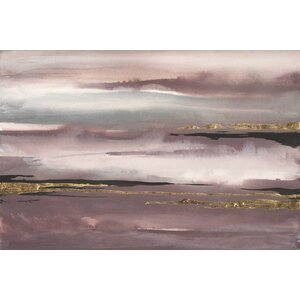 Gilded Storm I Painting Print on Wrapped Canvas by East Urban Home
