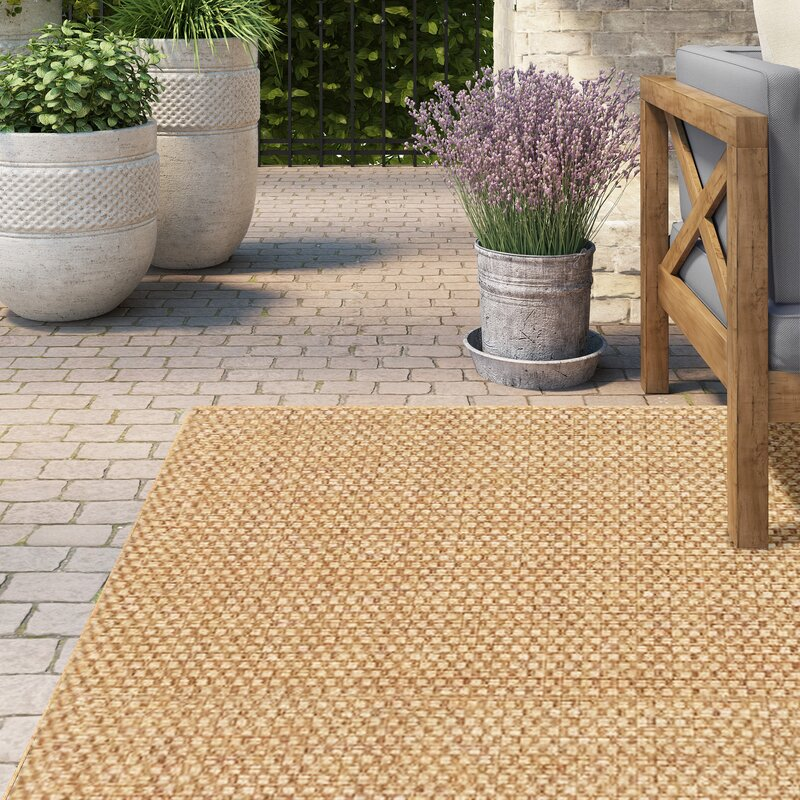 Orris Sand Indoor Outdoor Area Rug Amp Reviews Birch Lane