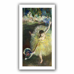 End of an Arabesque' by Edgar Degas Painting Print on Rolled Canvas by ArtWall