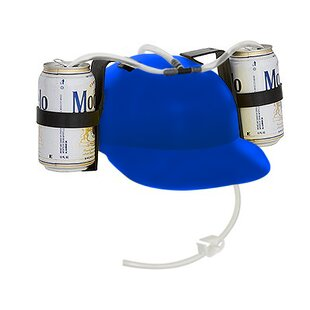 Beer and Soda Guzzler Drinking Helmet By EZ Drinker