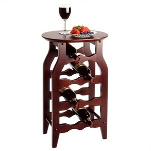 Cherry 8 Bottle Floor Wine Rack by Winsome