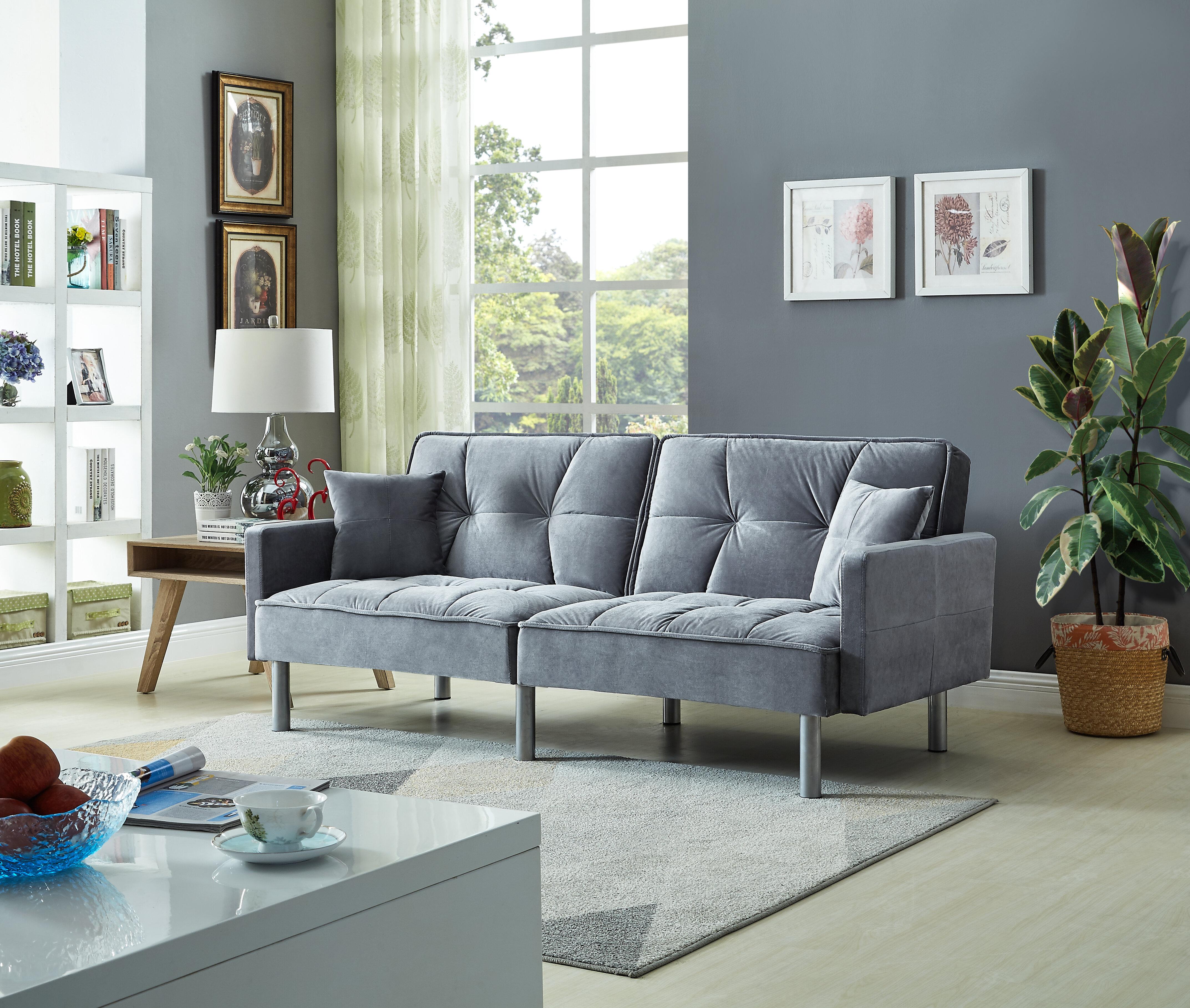 - Mercer41 Hemphill Velvet Sleeper Sofa & Reviews Wayfair