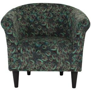 Ronda Contemporary Animal Print Barrel Chair by Bloomsbury Market