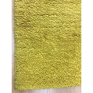 Shag Eyeball Woolen Mustard Hand Knotted Yellow Area Rug by Eastern Weavers