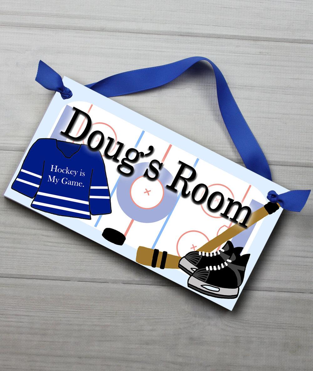 Hockey Personalized Bedroom Door Sign